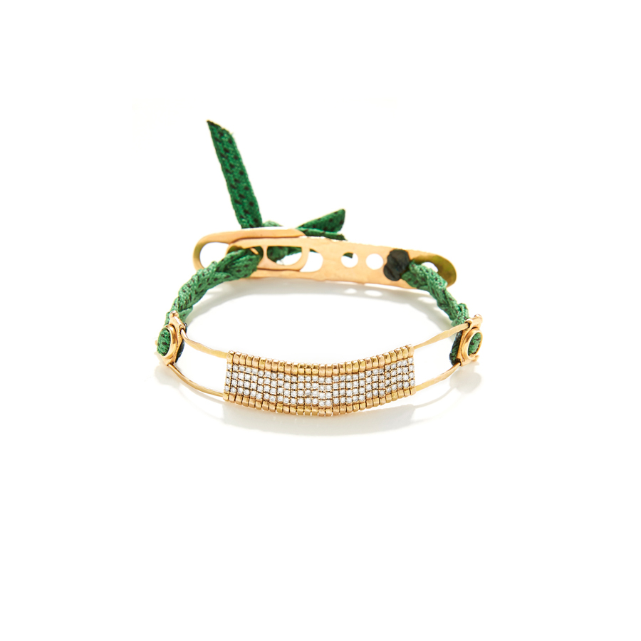 APRIATI LOOKBOOK SPRING 2016 GREEN BARRET BRIDGE BRACELET