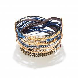 MULTI CORD BLUE MIX BRACELET