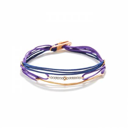 7 CORDS WITH PLAQUE AND 2 MINI TRAIN (PURPLE-BLUE) FRONT
