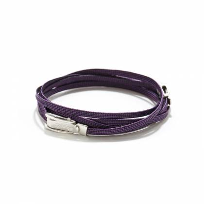 DOUBLE BUCKLE PURPLE FRONT