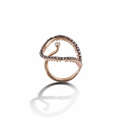 Tulip ring all diamonds