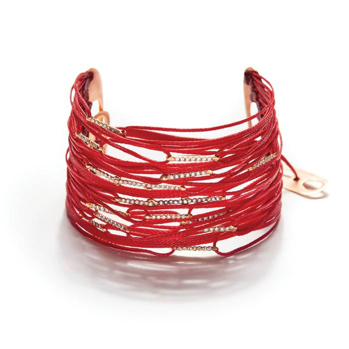 40 CORDS RED MIX BRACELET