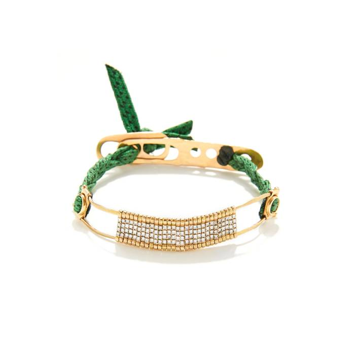 GREEN BARRET BRIDGE BRACELET