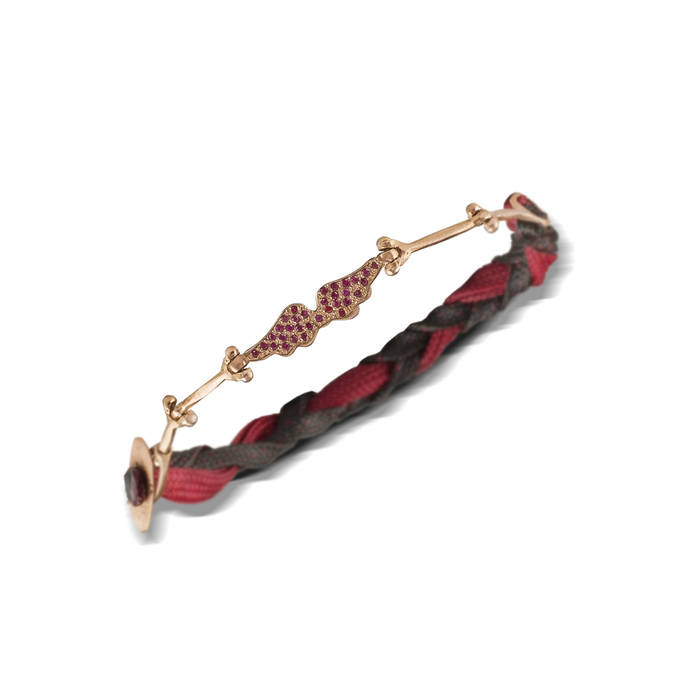 Angel wings red pave