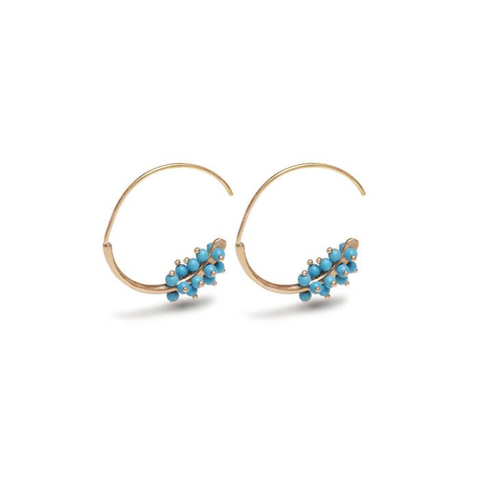 Hoops 16 turquoise