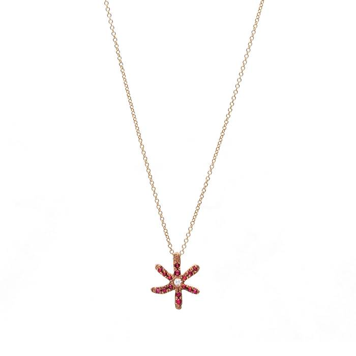 STAR FISH PAVE RUBIES B