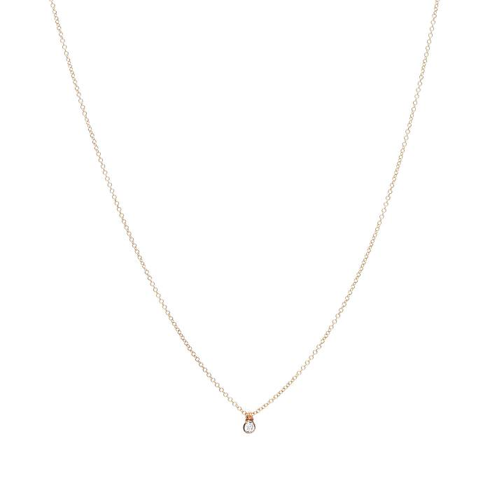 SINGLE DIAMOND ON CHAIN 0.05ct B