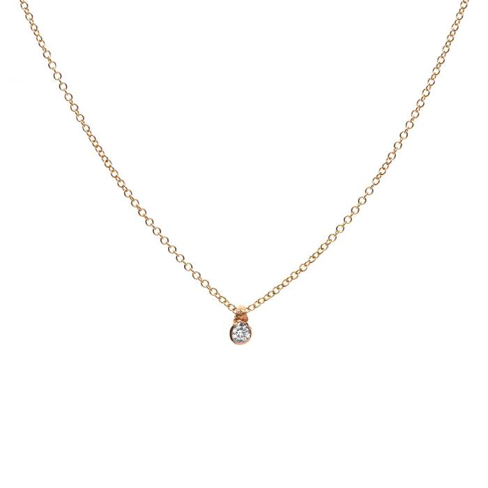 SINGLE DIAMOND ON CHAIN 0.05ct C