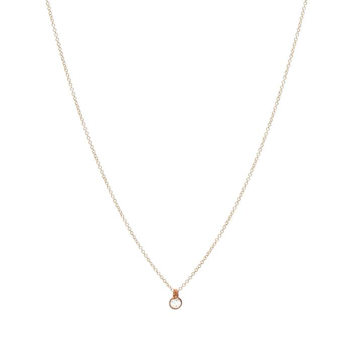 SINGLE DIAMOND ON CHAIN 0.10ct B